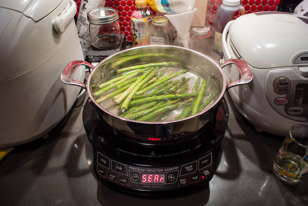 Induction Cooktop Cooking